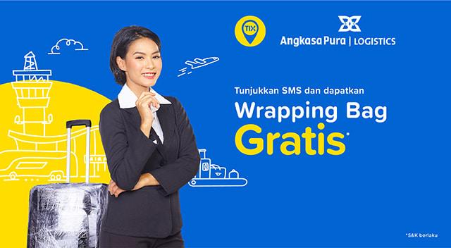 TIX Spot - Gratis Wrapping Bagasi